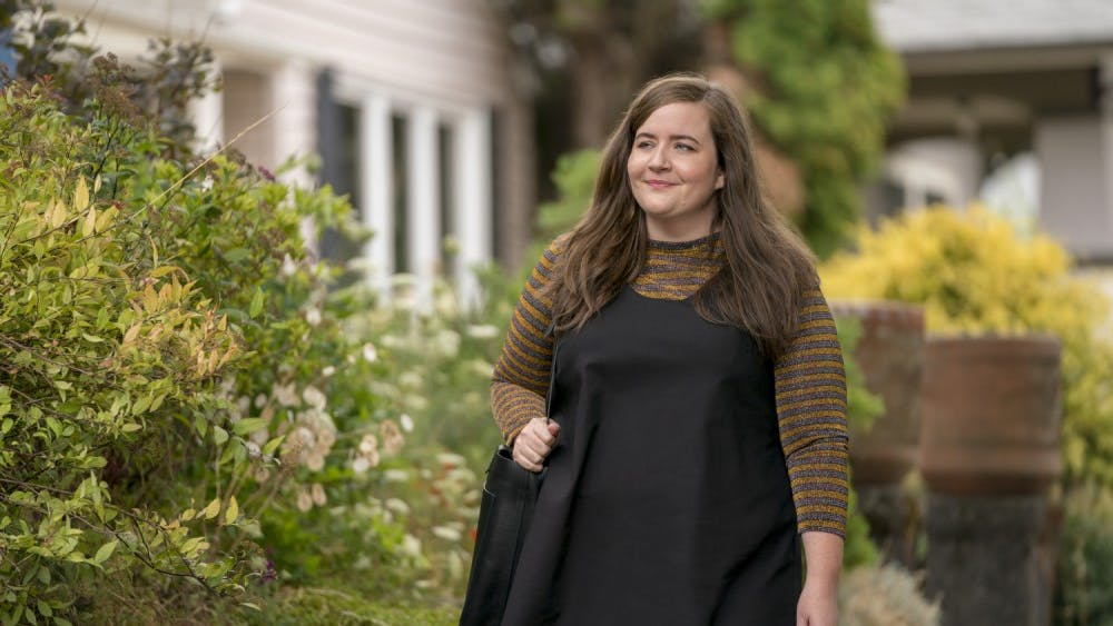 """In Hulu's new show, """"Shrill,"""" the main character, Annie is trying to start her career while juggling bad boyfriends, a sick parent and a perfectionist boss."""
