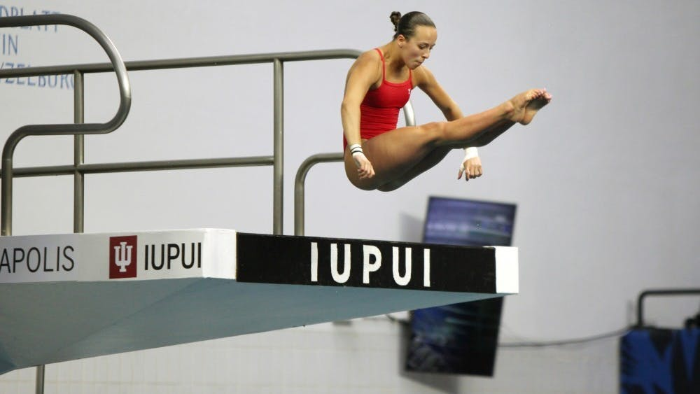 Jessica Parratto warms up before the women's synchronized 10-meter preliminaries at the 2016 U.S. Olympic Team Trials in Indianapolis. Parratto earned a silver medal in the 10-meter synchronized platform diving competition Tuesday.