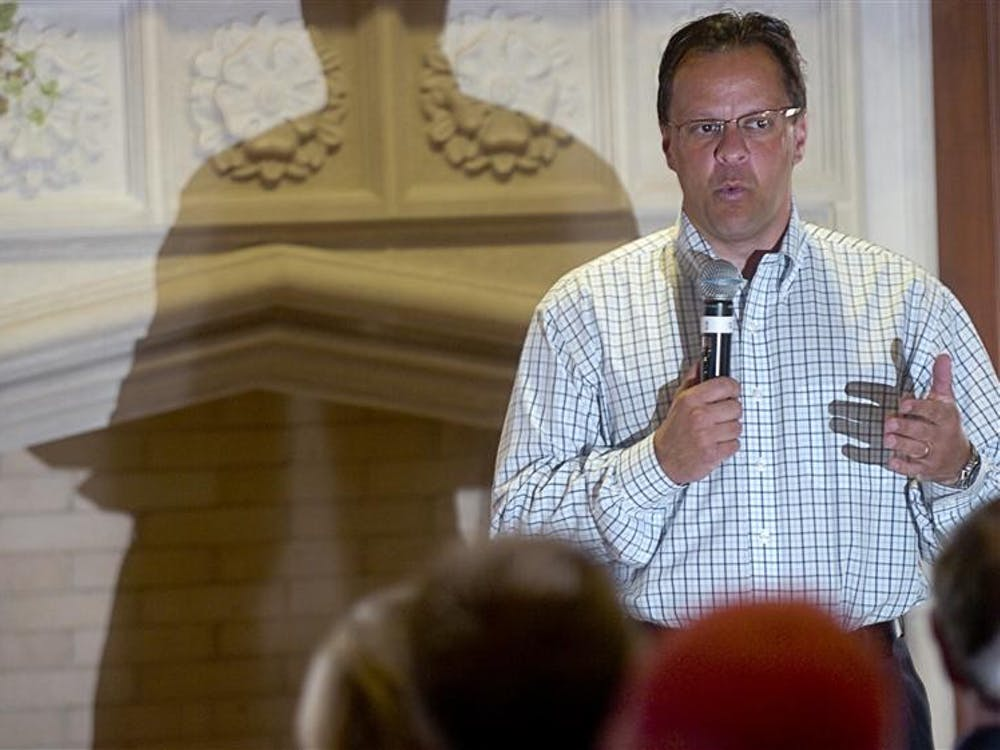 IU coach Tom Crean spoke of the past and  future of Men's basketball and any other question asked by Beta Theta Pi members on Thursday evening at the Beta Theta Pi fraternity house. Among many new changes, Crean has plans for a named student section at Assembly Hall.