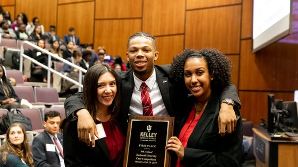 IU tied for first with University of California at Berkeley on Jan. 18 and 19 at the Kelley School of Business' eighth annual National Diversity Case Competition. The winning teams each received a $6,250 cash prize.