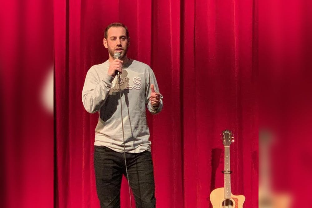 """<p>IU alumnus Jon Savitt performs stand-up. He published a new comedy book titled<strong> </strong>""""Read This When You're Sad&quot;<strong> </strong>on Jan. 28.</p>"""