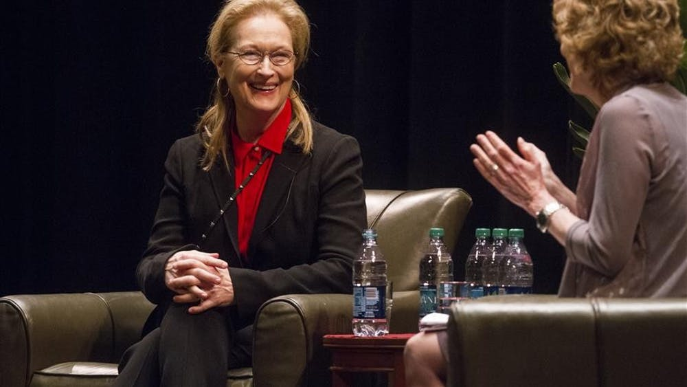 After receiving an honorary doctoral degree from IU Wednesday afternoon, Meryl Streep sat down with IU professor Barbara Klinger and talked about her experiences as an actress.