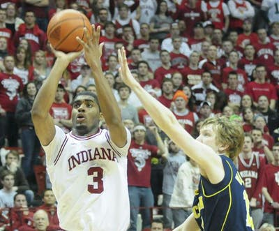 Then-sophomore guard Maurice Creek takes a jump shot during the Hoosiers' 19-point win against Michigan on Jan. 15, 2011, at Assembly Hall. Creek and fellow former Hoosier Remy Abell made it to the championship game of The Basketball Tournament with team Sideline Cancer before losing to the Golden Eagles.