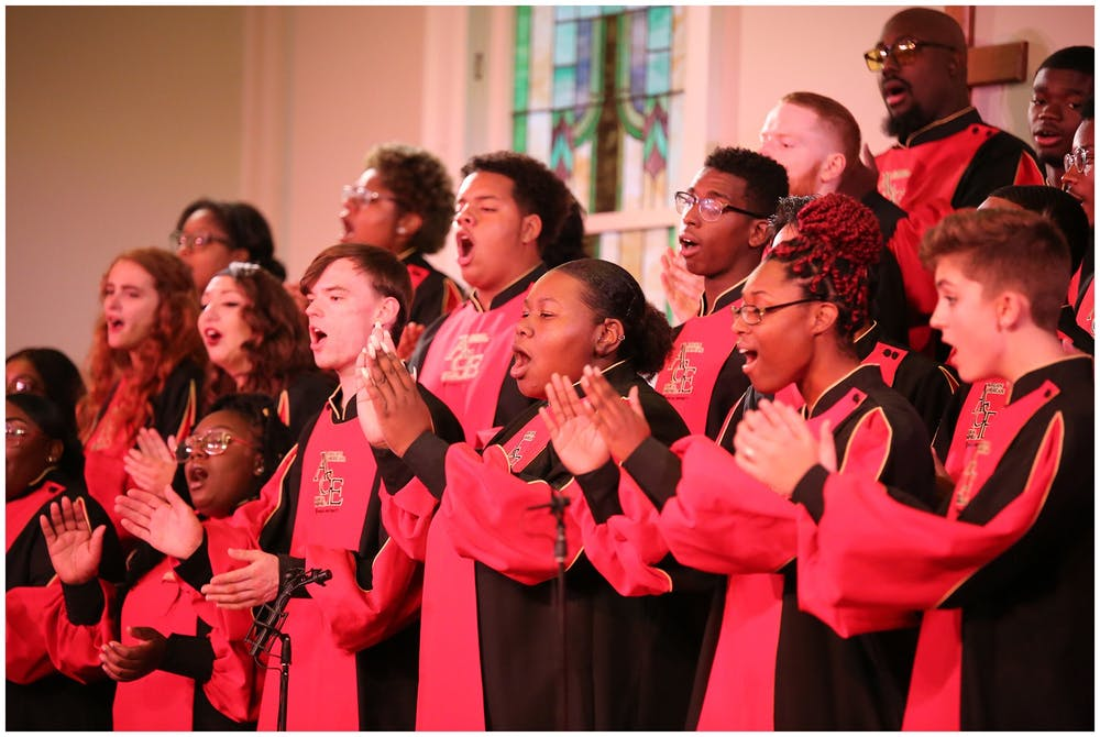 "<p>The African American Choral Ensemble performs Oct. 19, 2019, at Second Baptist Church in Bloomington. A new concert film titled ""Amen! Music of the Black Church"" featuring the African American Choral Ensemble will premiere at 7 p.m. Sunday on local television station WTIU.</p>"