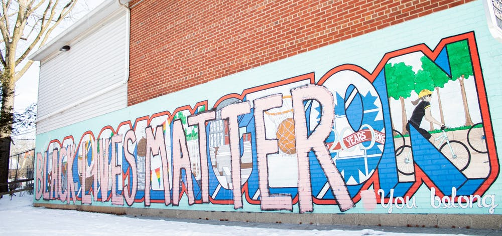<p>A Black Lives Matter mural is seen Feb. 14 in People&#x27;s Park. </p>