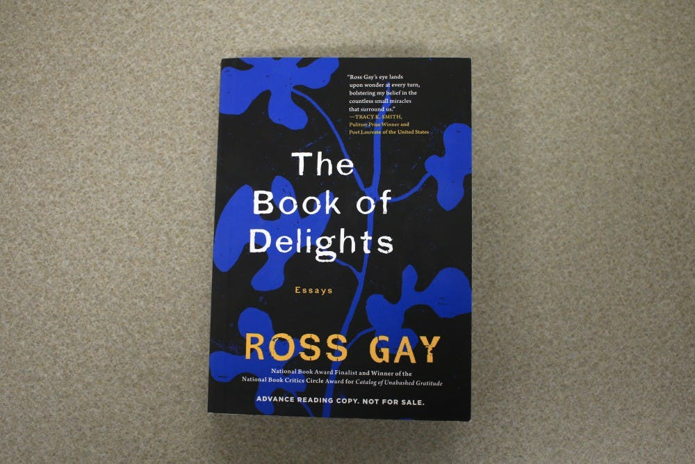 """<p>""""The Book of Delights"""" is written by IU professor and poet Ross Gay. It is a collection of essays based on sources of delight.&nbsp;</p>"""