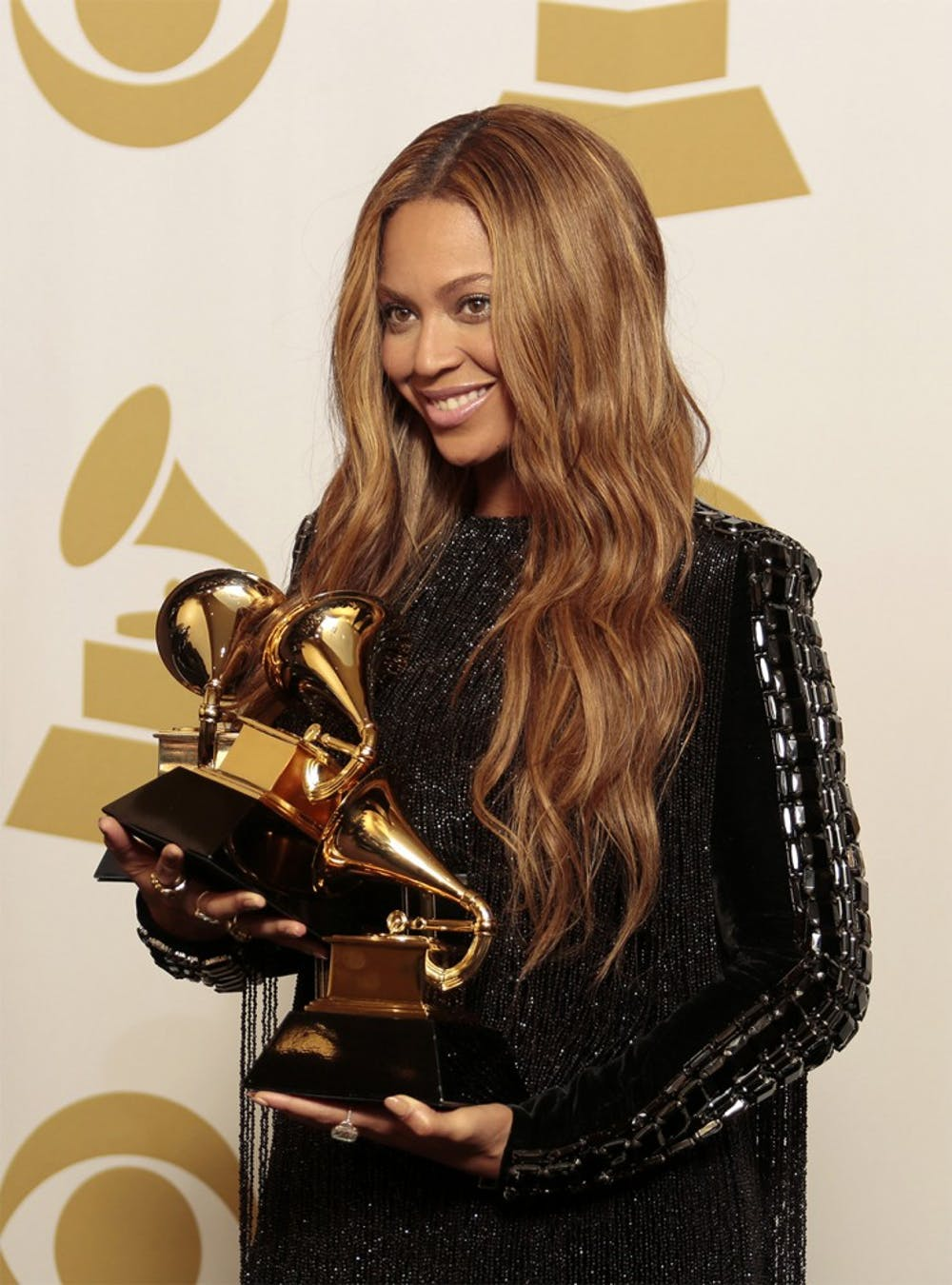 Beyonce backstage at the 57th Annual Grammy Awards at Staples Center in Los Angeles on Sunday, Feb. 8, 2015.