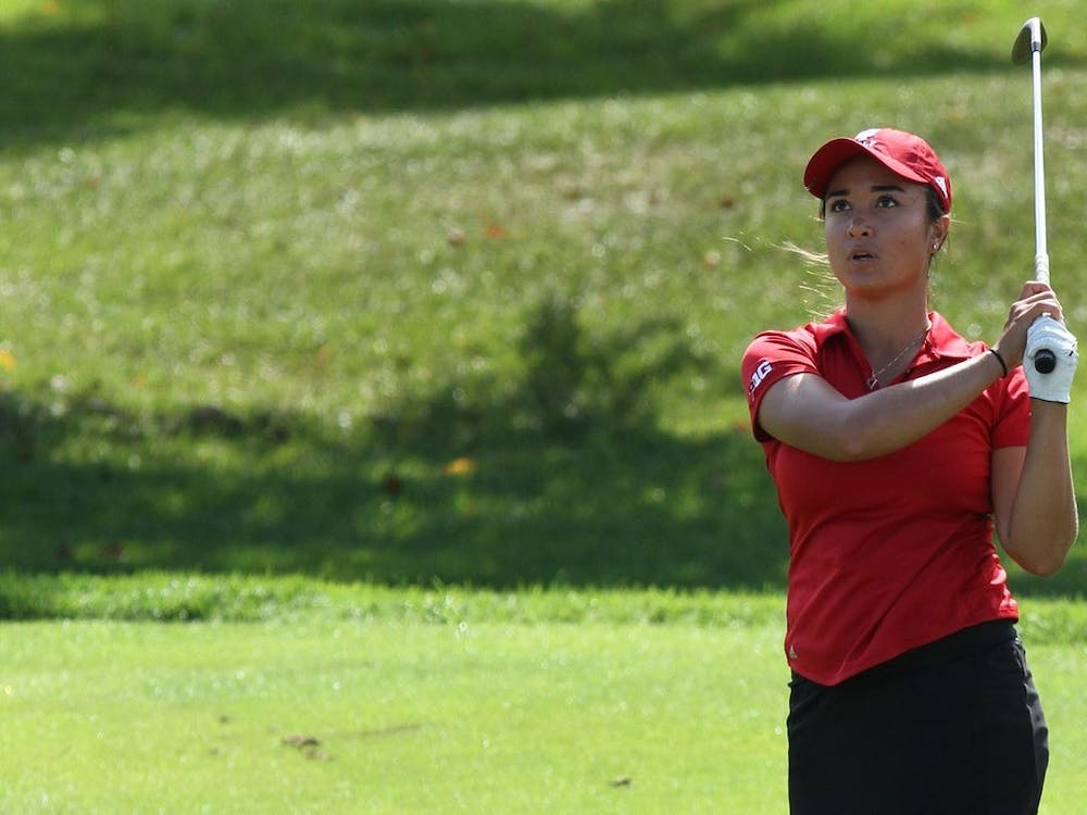 Then-senior Mary Parsons swings her golf club during the Clemson Invitational on March 27, 2021, at The Reserve at Lake Keowee. Indiana finished 10th in the Badger Invitational, which took place Sept. 19-21, 2021 in Madison, Wisconsin.