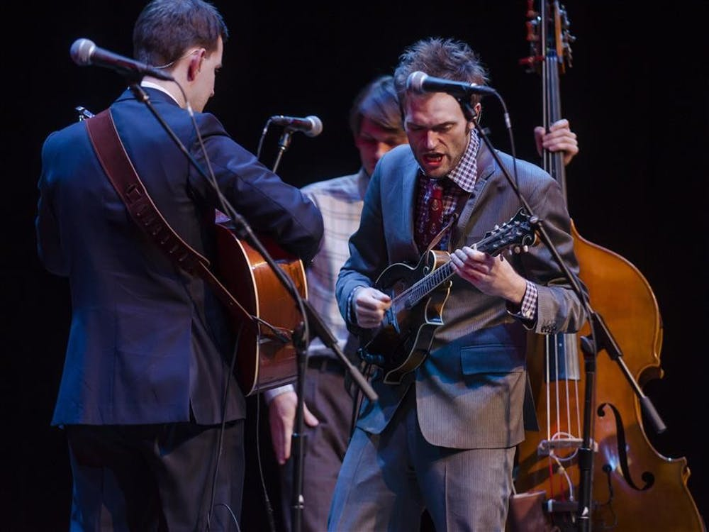 Chris Thile leads the Punch Brothers on Tuesday evening at the Buskirk-Chumley Theater. The band's most recent album is entitled Who's Feeling Young Now?