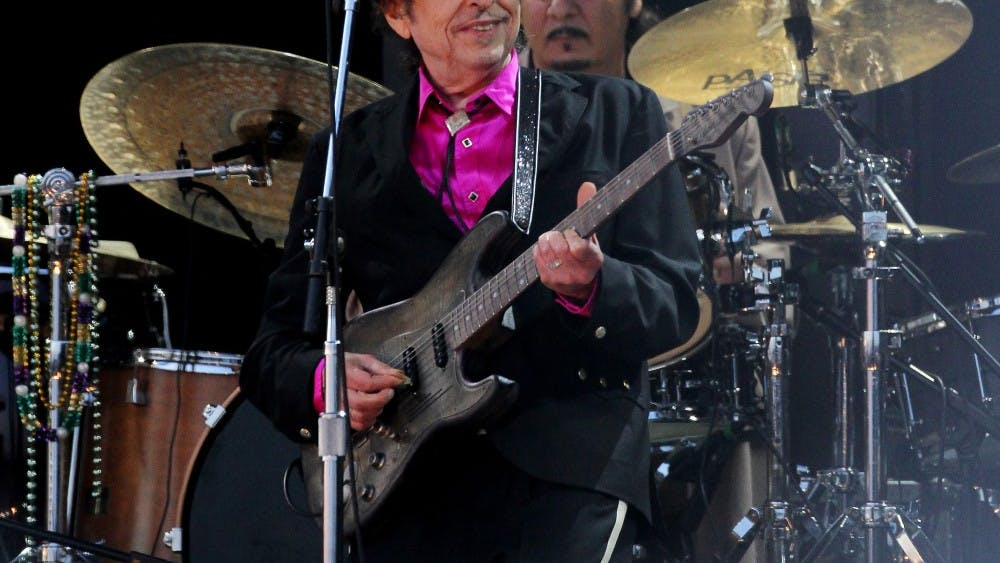 Bob Dylan performs in 2010 in London. Dylan will be performing at 8 p.m. Oct. 27 at the IU Auditorium, and tickets for the show will go on sale at 10 a.m. Sept. 12.