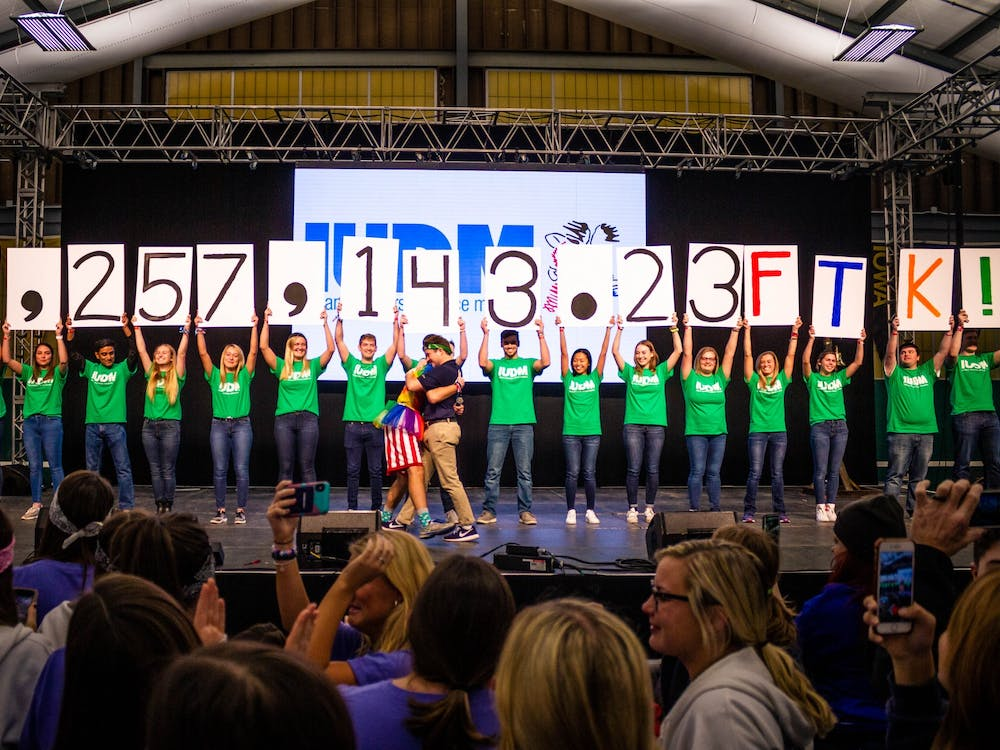 IU Dance Marathon reveals the amount of money IU students raised for Riley Hospital for Children on Nov. 16, 2019, at the IU Tennis Center. The 2020 IUDM will take place virtually in November.