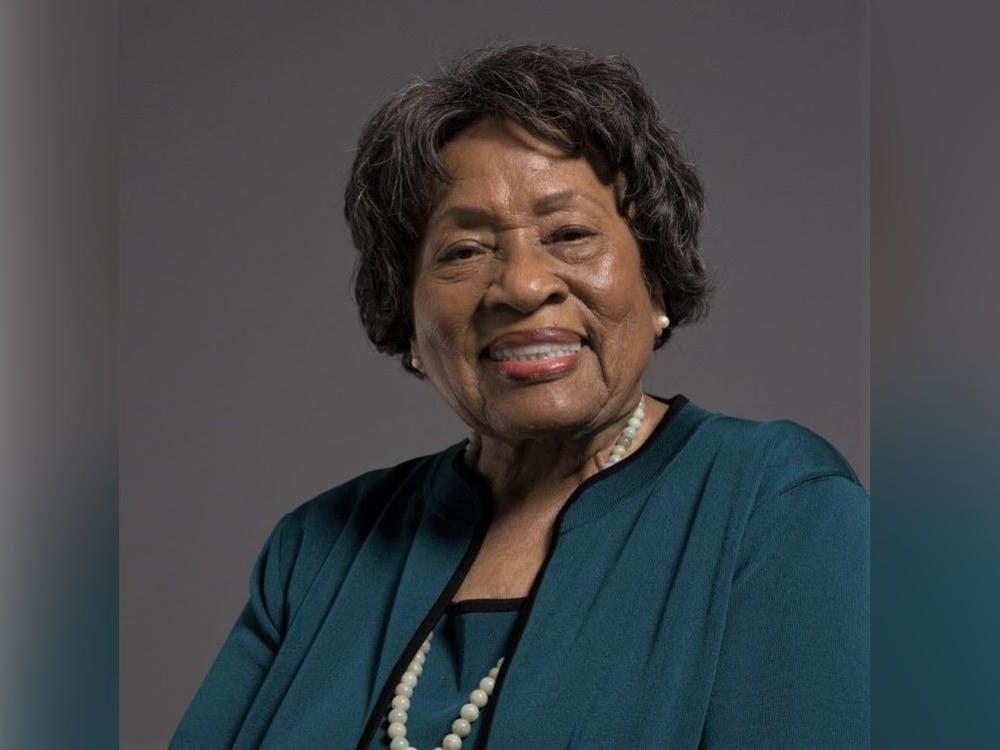 Dr. Joycelyn Elders, former U.S. Surgeon General and presently a professor at the University of Arkansas, smiles for a portrait. Dr. Elders was presented Thursday with the 2020 Ryan White Distinguished Leadership Award by the IU School of Public Health and the Rural Center for AIDS/STD Prevention.