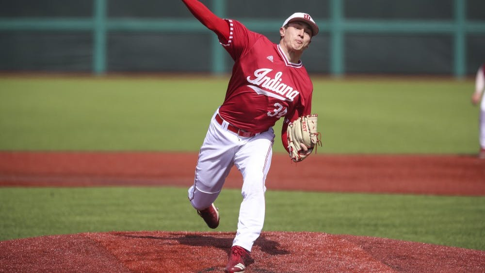 Junior pitcher Jonathan Stiever pitches the ball against the Butler Bulldogs on March 30 at Bart Kaufman Field. Stiever was drafted by the Chicago White Sox on June 4.