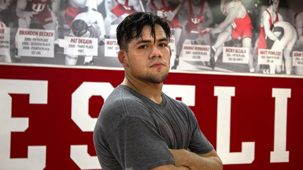 Senior Fernando Silva stands Nov. 5 after practice in Simon Skjodt Assembly Hall. In high school Silva lost both his best friend and coach while undergoing three surgeries on his meniscus, yet still won a state championship in his senior year.