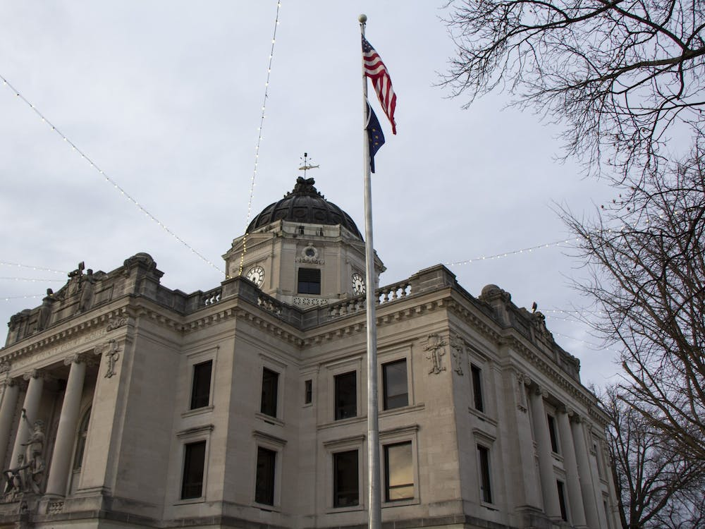 The Monroe County Courthouse bell rings 108 times to honor the deaths of Bloomington residents due to COVID-19. Cities and towns around the U.S. participated in the COVID-19 National Day of Remembrance on Tuesday.