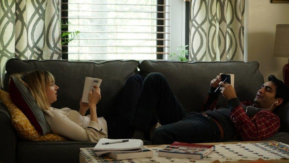 "Emily V. Gordon and Kumail Nanjiani in the film ""The Big Sick."" (Sundance Film Festival)"