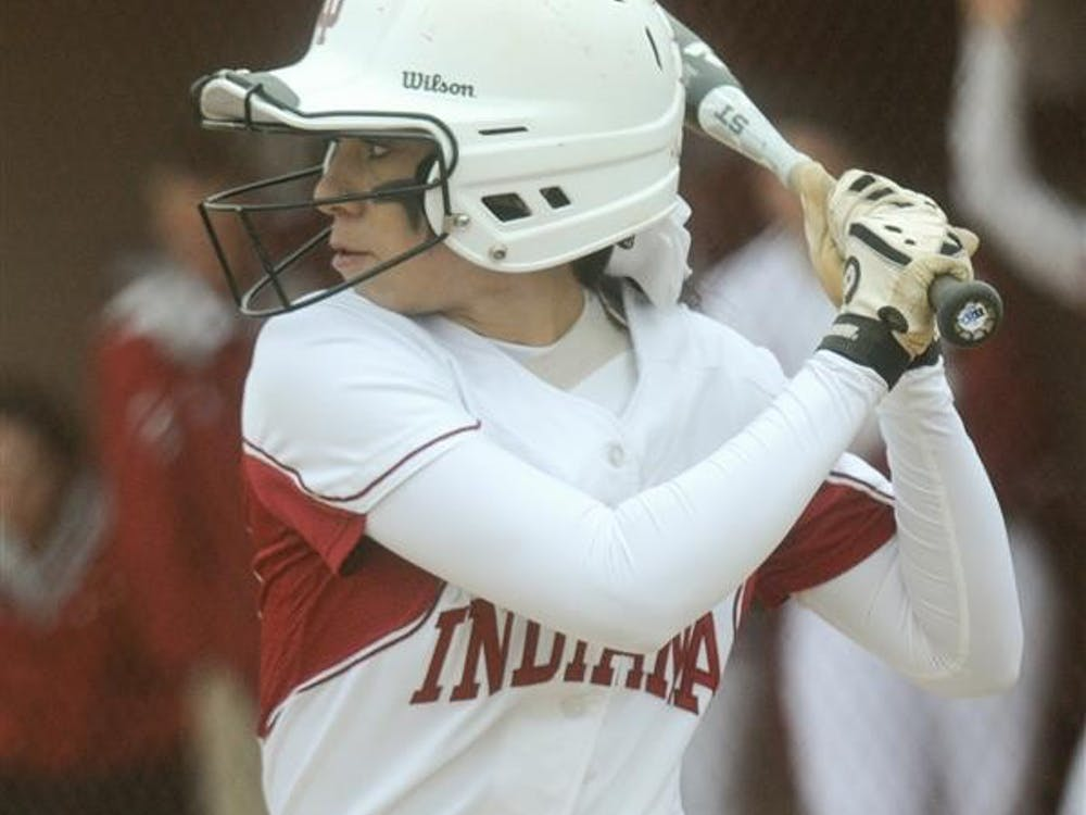 Then-sophomore infielder Breanna Saucedo steps steps up to the plate to bat during the Hoosiers' win against Ball State on April 25, 2011 at the IU Softball Field.