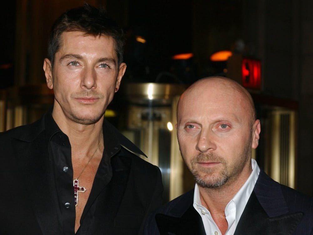 Fashion designers Domenico Dolce and Stefano Gabbana arrive at Cipriani to attend the 20th Annual Night of Stars in 2003. The Italian luxury fashion house ran an ad that turned out to be a display of cultural insensitivity and stereotyping.