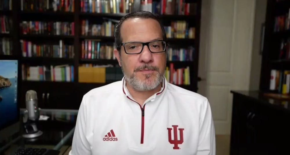 <p>A screenshot shows Dr. Aaron Carroll, IU&#x27;s director of mitigation testing, speaks during his weekly webinar Wednesday. IU announced Wednesday its own COVID-19 testing labs are in the final stages of fully opening, which would greatly increase mitigation testing on campus.</p>