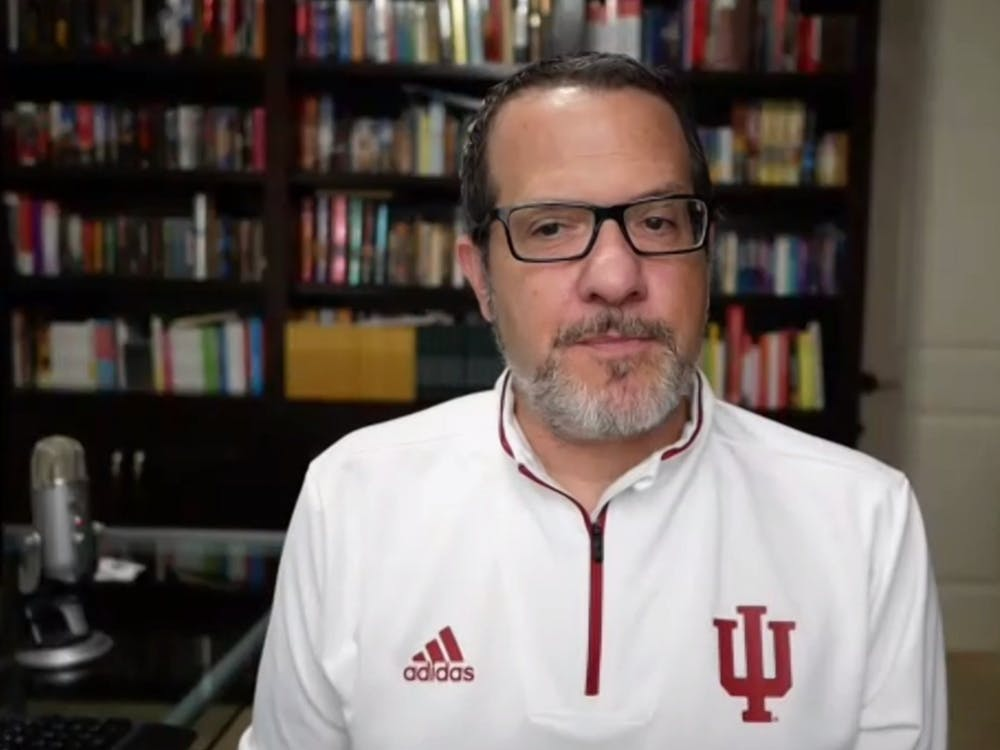 A screenshot shows Dr. Aaron Carroll, IU's director of mitigation testing, speaks during his weekly webinar Wednesday. IU announced Wednesday its own COVID-19 testing labs are in the final stages of fully opening, which would greatly increase mitigation testing on campus.