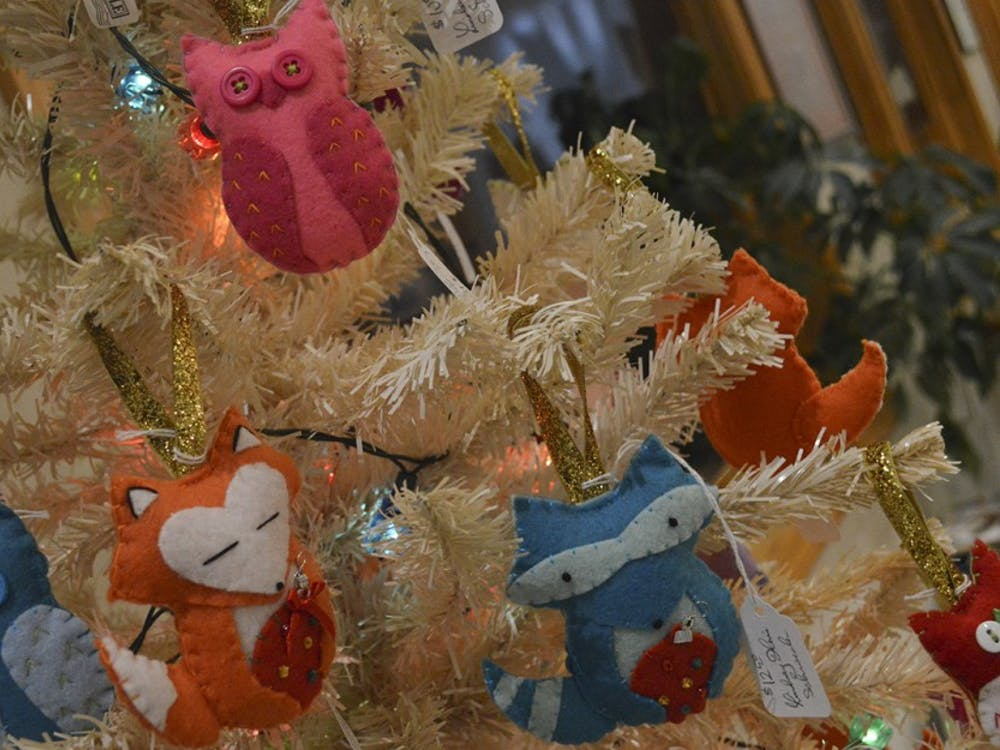 Throughout the month of December Lindsay Hine Schroeder will be selling handcrafted felt ornaments at the College Mall Veterinary Hospital where 90% of the proceeds will go to WildCare, Inc.