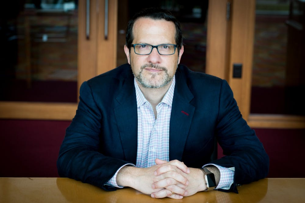 <p>Dr. Aaron Carroll, IU's director of mitigation testing<strong>,</strong> poses for a photo. Carroll said students involved in certain extracurricular activities may have to be tested for COVID-19 more frequently than initial testing requirements.</p>