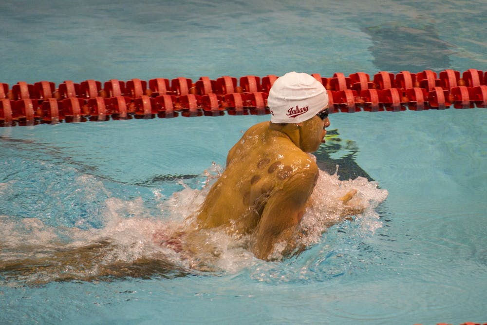 <p>Senior Mohamed Samy swims Jan. 25 in the 200-yard breaststroke in IU&#x27;s meet against Purdue at the Councilman-Billingsley Aquatics Center. Samy was set to represent Eygpt in Tokyo, Japan, this summer before the Olympics were canceled due to the effects of COVID-19.</p>