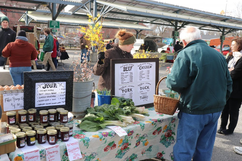 <p>The Partland Family Farm sells an abundance of items such as flowers, eggs and vegetables in 2018 at the Bloomington Farmers&#x27; Market. Bloomington residents have many opportunities to get involved in local agriculture.</p>