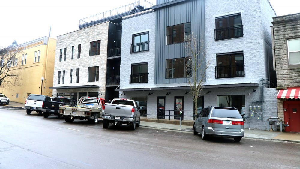 A set of buildings are pictured at 217 W. Sixth St., between Social Cantina and Janko's Little Zagreb. Over the next several months, Bret Pafford Jr., a managing partner through ReVv and Strum Hospitality, plans to open four new restaurants in this area.