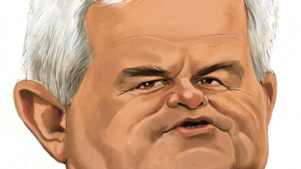 300 dpi Chris Ware illustration of U.S. Republican presidential candidate Newt Gingrich. MCT 2011  krtnational national; krt; krtcampus campus; mctcaricature; 11000000; 11003001; 11003002; 11003004; 11010000; krteln election; krtgovernment government; krtpolitics politics; krtrepublicans republicans republican gop; krtuspolitics; movement; national election; party; POL; political campaign; political candidate; VOTE; krteln2012; former speaker of the house; krt mct; newt gingrich; georgia ga; krtsouth; u.s. us united states; 2011; krt2011; ware