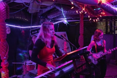 """Rosegirl performs Feb. 23 at the Brickhouse for a fundraising benefit, """"Fem' and Funky."""" The benefit helped raise money for Middle Way House."""