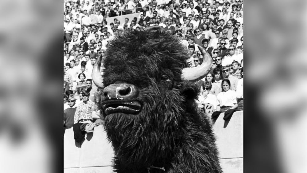 The IU Bison Mascot is pictured September 23, 1967.