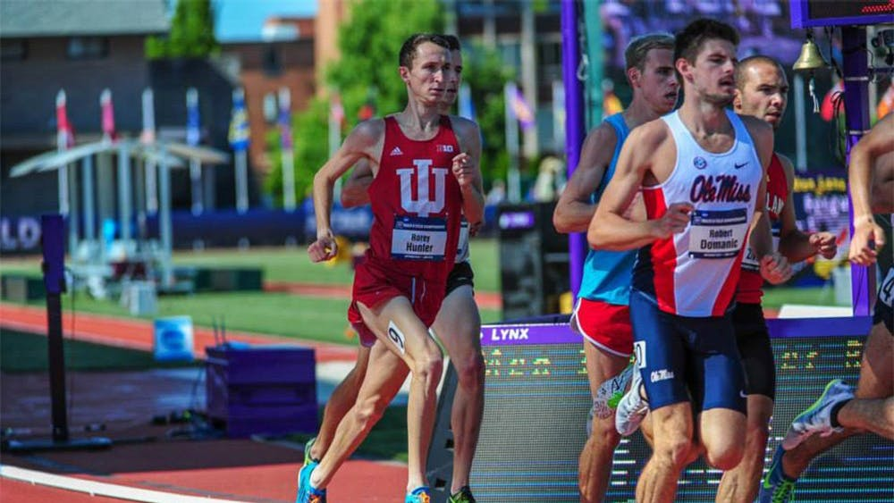 Redshirt senior Rorey Hunter runs as part of IU's cross country team after writing to coach Ron Helmer to be a part of the team. Hunter routinely runs more than 30 miles a week to keep himself in shape and getting stronger.