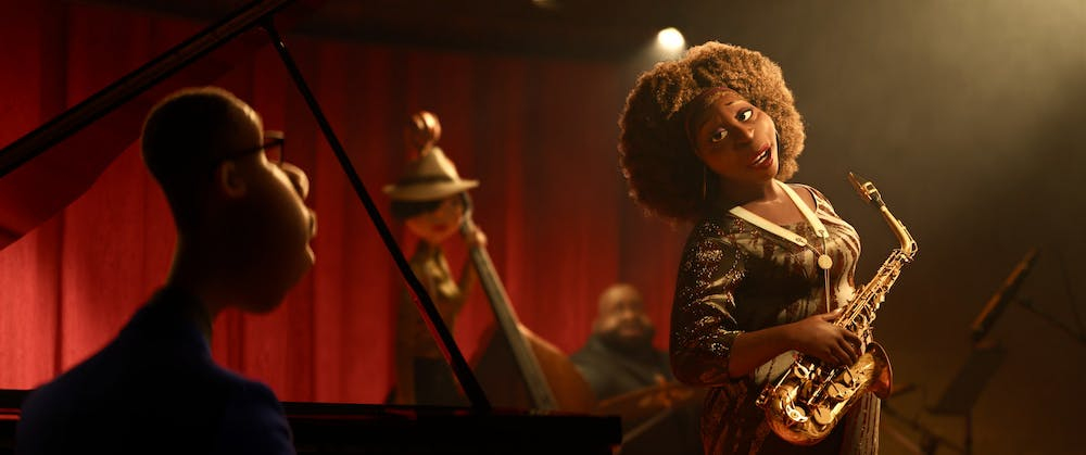 <p>Joe, voiced by Jamie Foxx, and Dorothea, voiced by Angela Bassett, perform in the 2020 film &quot;Soul.&quot; </p>