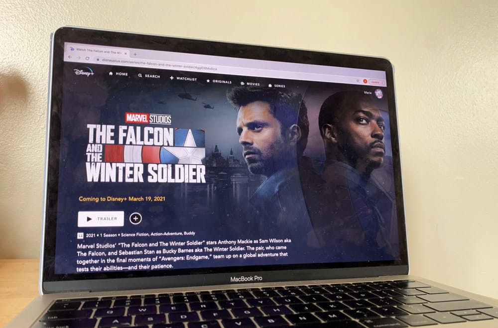 <p>Disney +&#x27;s &quot;Falcon and the Winter Soldier&quot; is pictured. The series premiers March 19. </p>