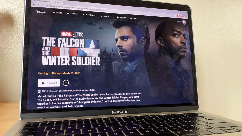 "Disney +'s ""Falcon and the Winter Soldier"" is pictured. The series premiers March 19."