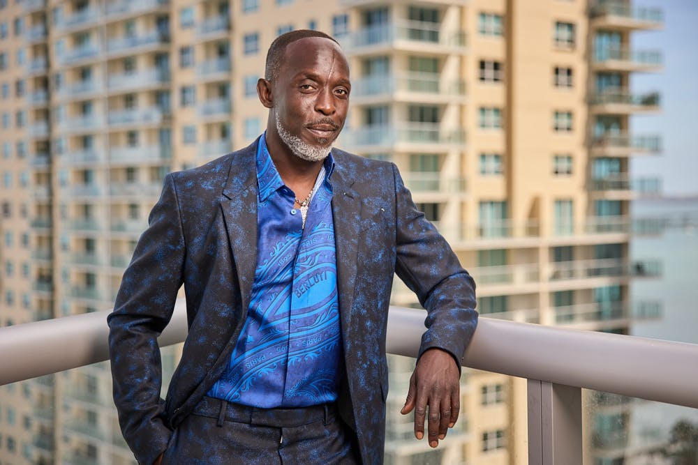 <p>Michael K. Williams is seen posing for a photo at the 27th Annual Screen Actors Guild Awards on March 31, 2021, in Miami.</p>