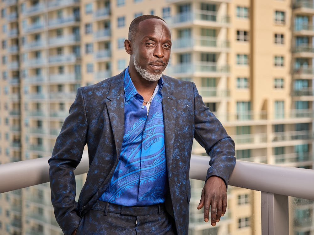 Michael K. Williams is seen posing for a photo at the 27th Annual Screen Actors Guild Awards on March 31, 2021, in Miami.