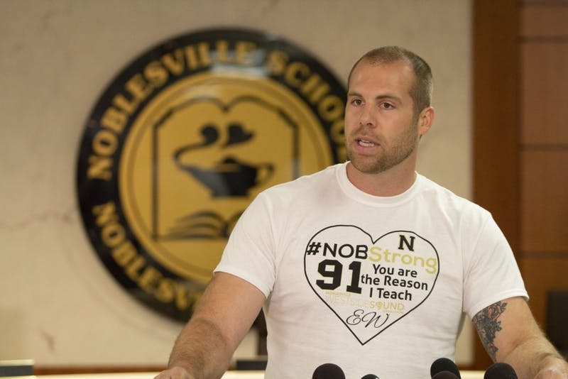 Noblesville West Middle School teacher Jason Seaman discusses how he is still processing the events that occurred in his classroom. Seaman and a student were injured Friday, May 25, before Seaman tackled and subdued the shooter.
