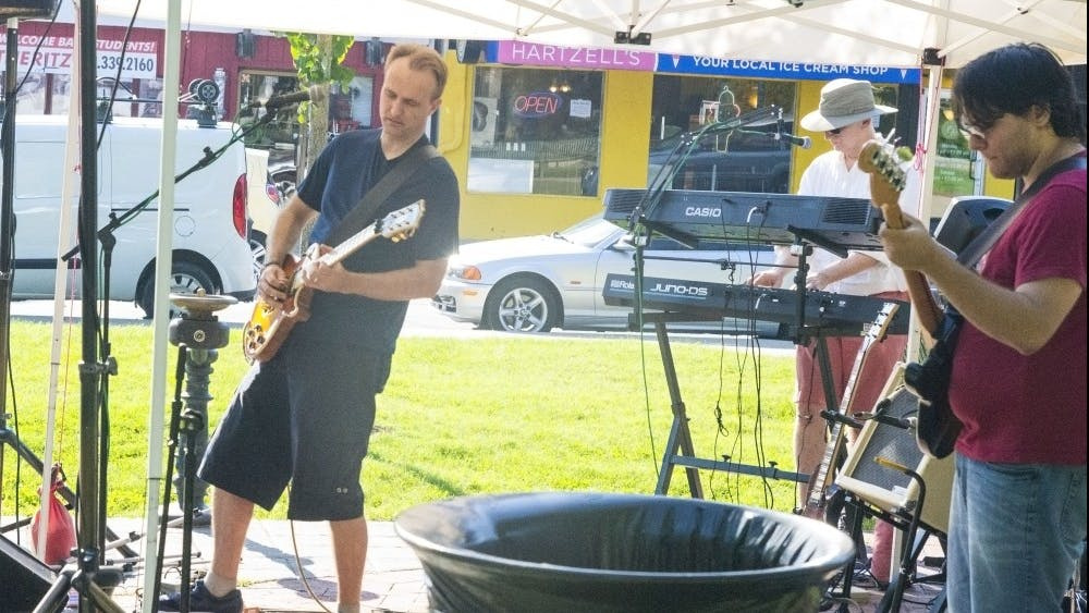 Rock 'n' roll band High Street Jack performs Sept. 3 in Peoples Park. This was the penultimate performance in the 2019 Peoples Park Concert Series.