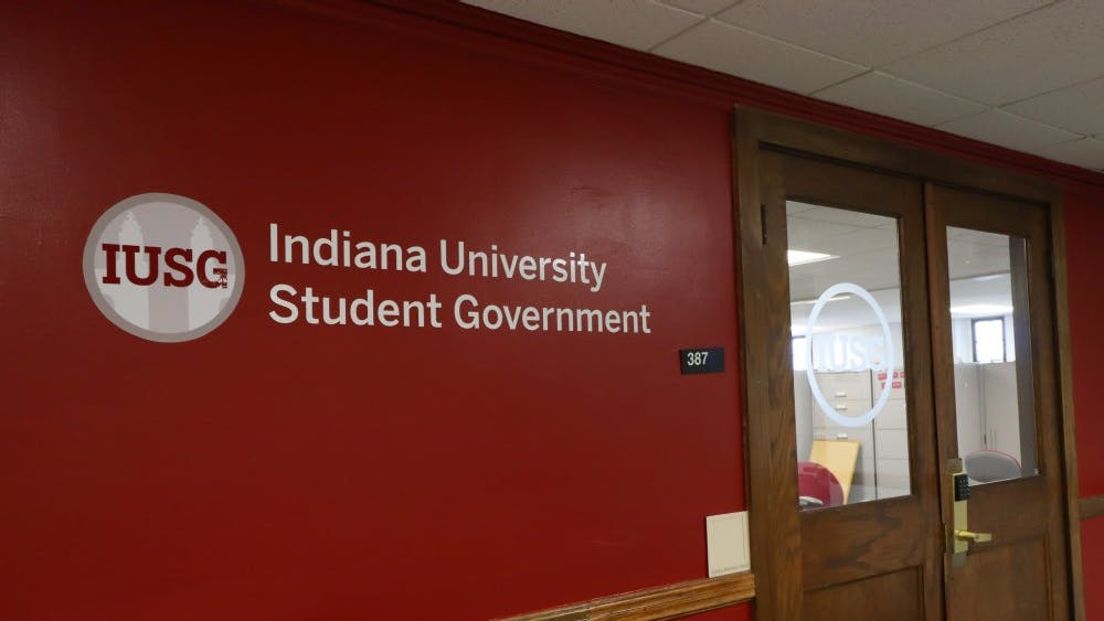 The Freshman Internship Program members attend their first IU Student Government executive branch meeting Sept. 24 at the IUSG office. The interns will be paired with an executive branch member to work together for the semester.