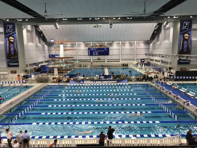 The IU women's swimming and diving team competes in the Lee and Joe Jamail Swimming Center in Austin, Texas. The meet takes place from March 20-23.
