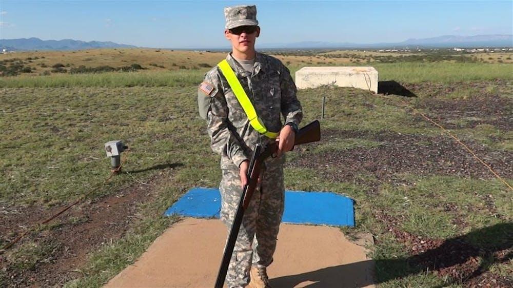 IU junior Michael Loomis trains on Sept. 2011 in Fort Huachuca, Ariz.