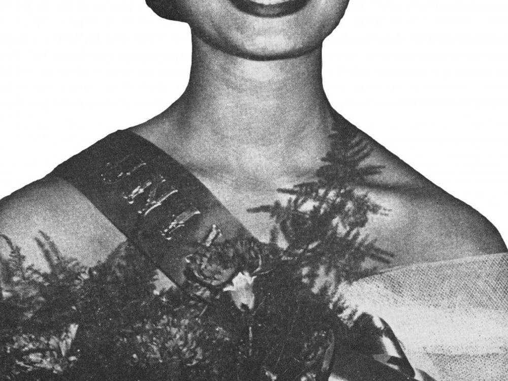 This photograph ofNancy Streets, the first black woman crowned Miss Indiana University, appeared on the cover of Jet magazine June 11, 1959.