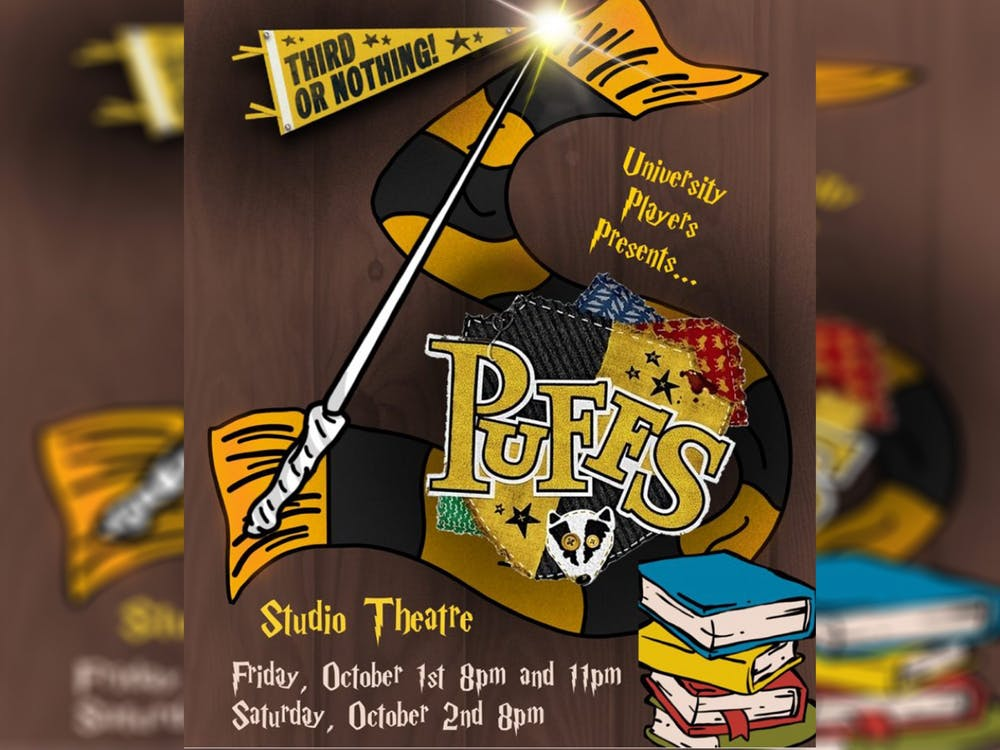 """University Players will open their season with """"Puffs"""" on Oct. 1-2, 2021 in the Studio Theatre in the Lee Norvelle Theatre and Drama Center.""""Puffs"""" is a comedic retelling of """"Harry Potter""""."""