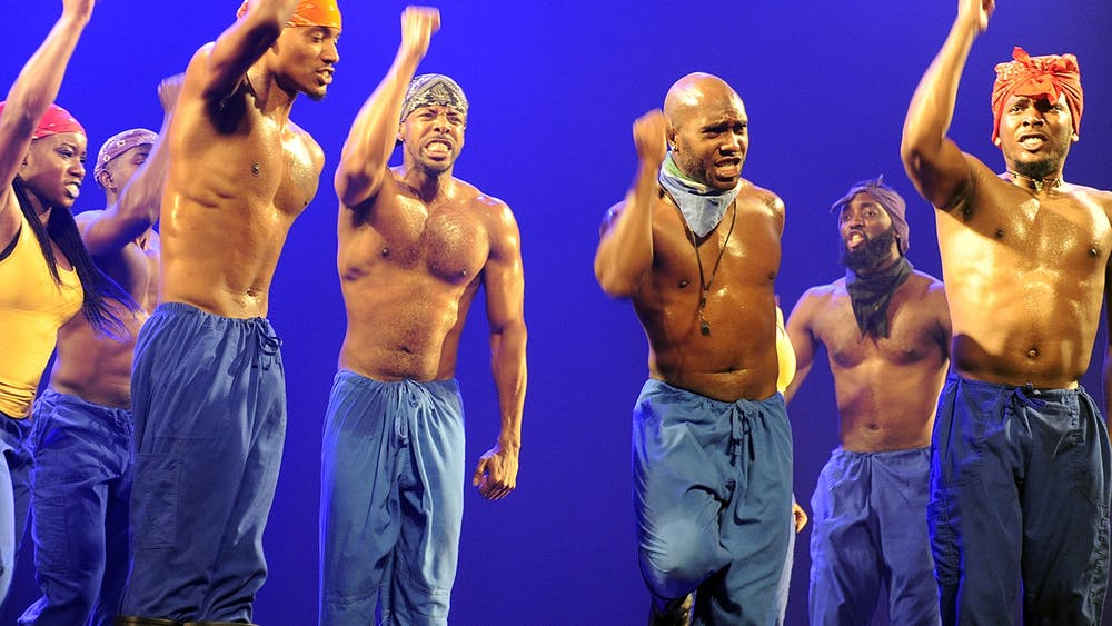 Step Afrika performs on April 12, 2016, at the U.S. Embassy in Jerusalem, Israel. The dance company will perform April 24 at Kinsey Hollow Open Air Venue.