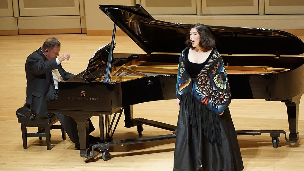 "Doctoral student Alejandra Martinez sings Nov. 15, 2018, at the Art Song of Mexico concert in Auer Hall. Faculty and students will perform in the ""Black History Month: A Celebration"" recital at 6 p.m. Sunday in the Simon Music Center's Auer Hall."