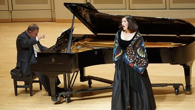"""Doctoral student Alejandra Martinez sings Nov. 15, 2018, at the Art Song of Mexico concert in Auer Hall. Faculty and students will perform in the """"Black History Month: A Celebration"""" recital at 6 p.m. Sunday in the Simon Music Center's Auer Hall."""