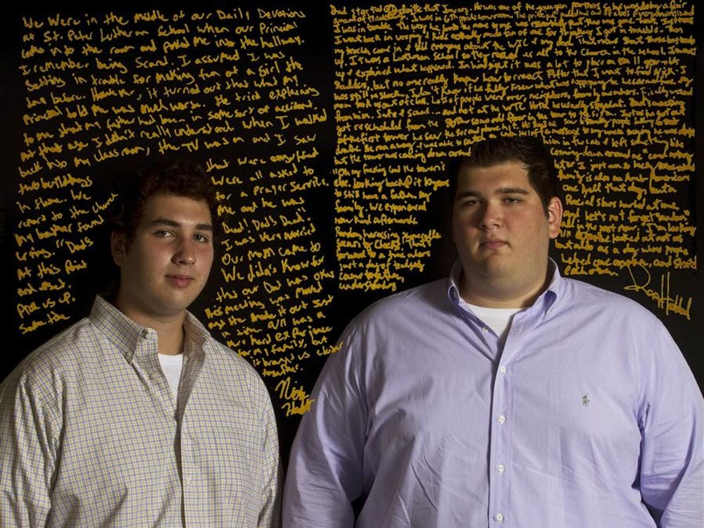 Dan Haddad, senior, and Nick Haddad, freshman