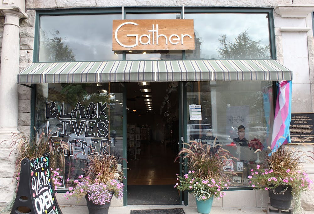 <p>Gather is located across from the Monroe County Courthouse in downtown Bloomington. A retail gift shop, Gather showcases emerging and independent handmade goods, according to its  website.</p>